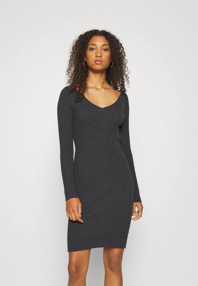 VITUPA - Pletené šaty - dark grey melange