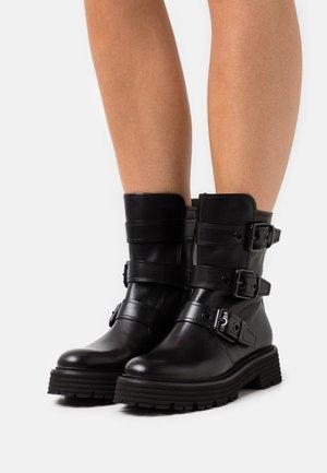 POWER - Cowboy/biker ankle boot - schwarz