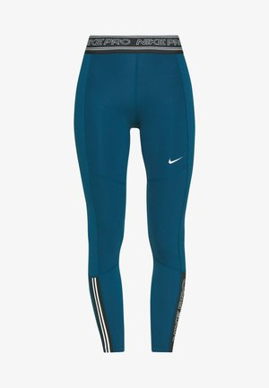 TIGHT 7/8  - Tights - valerian blue/black/white