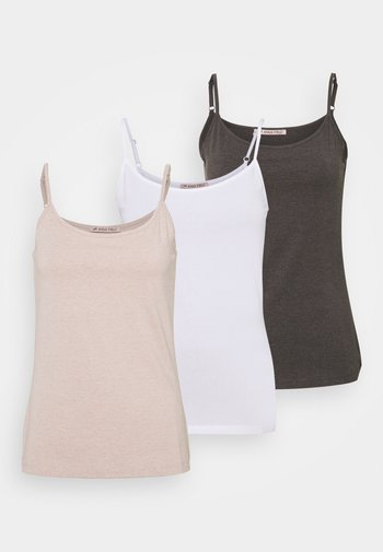 3 PACK - Toppi - mottled dark grey/beige/white