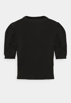 VMNEWFLOWERS O NECK - T-shirt imprimé - black