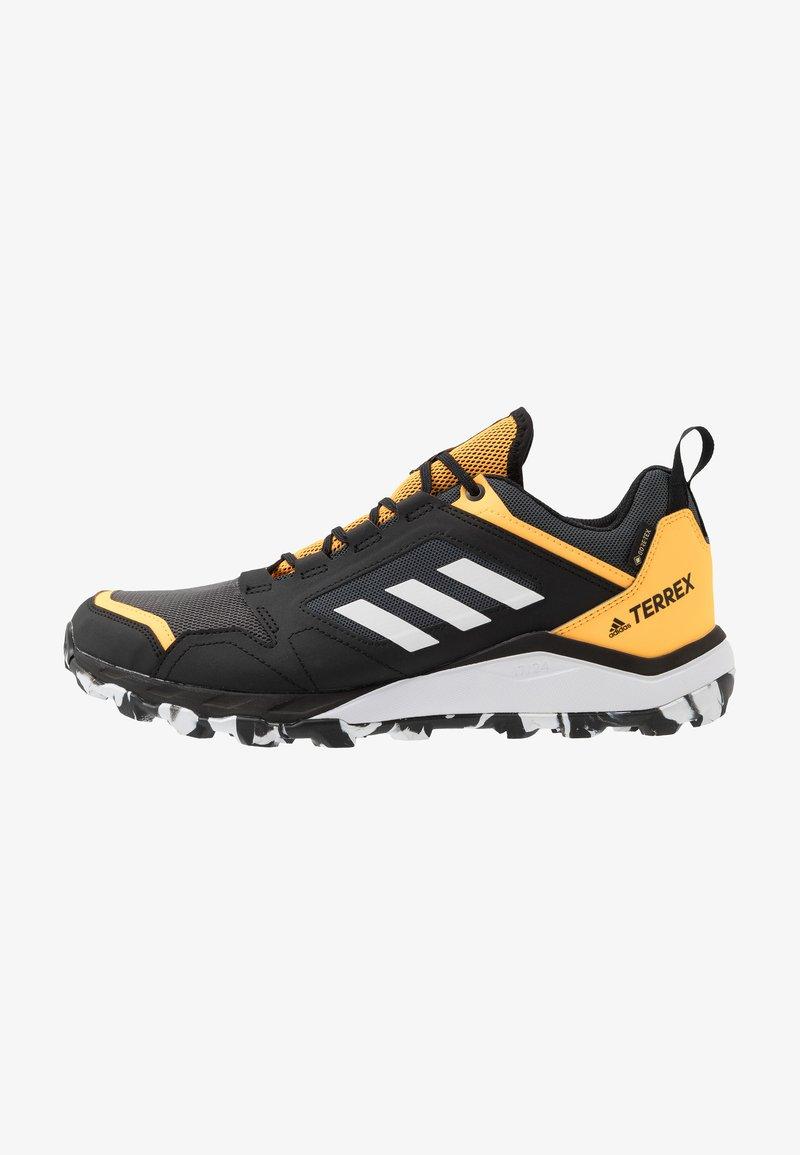 adidas Performance - TERREX AGRAVIC GORE-TEX TRAIL RUNNING SHOES - Zapatillas de trail running - grey six/footwear white/solar gold