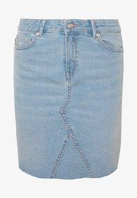 ONLY - ONLFAN SKIRT RAW EDGE  - Denim skirt - light blue denim - 3