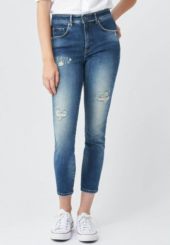 SECRET GLAMOUR PUSH IN - Jeans Skinny Fit - blau