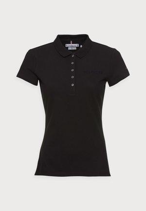 SLIM CRYSTAL - Polo shirt - black