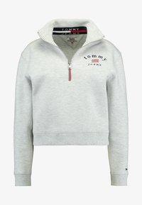 MODERN LOGO QUARTER ZIP - Sweatshirt - pale grey heather