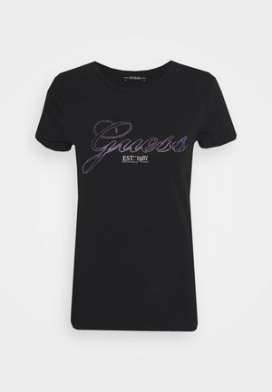 SELINA TEE - T-shirt print - schwarz