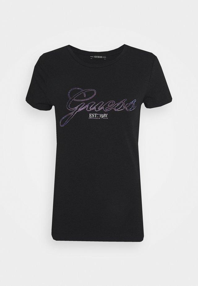 SELINA TEE - Print T-shirt - schwarz