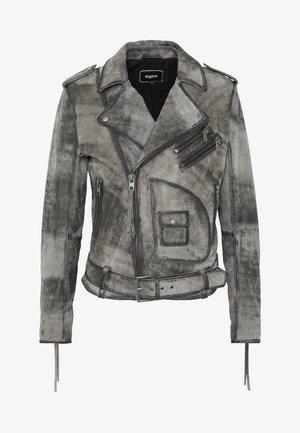 JEFFREY - Leather jacket - anthra