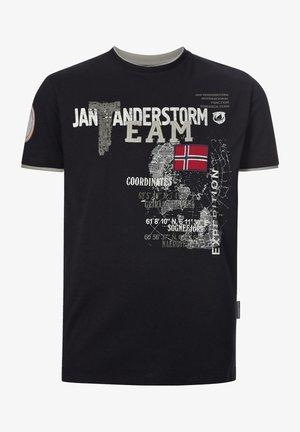 SÖLVE - Print T-shirt - schwarz