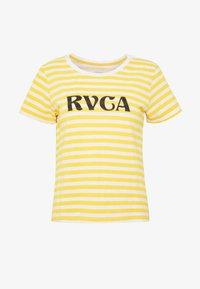 RVCA - MURPHY STRIPE TEE - T-shirt z nadrukiem - yellow - 3