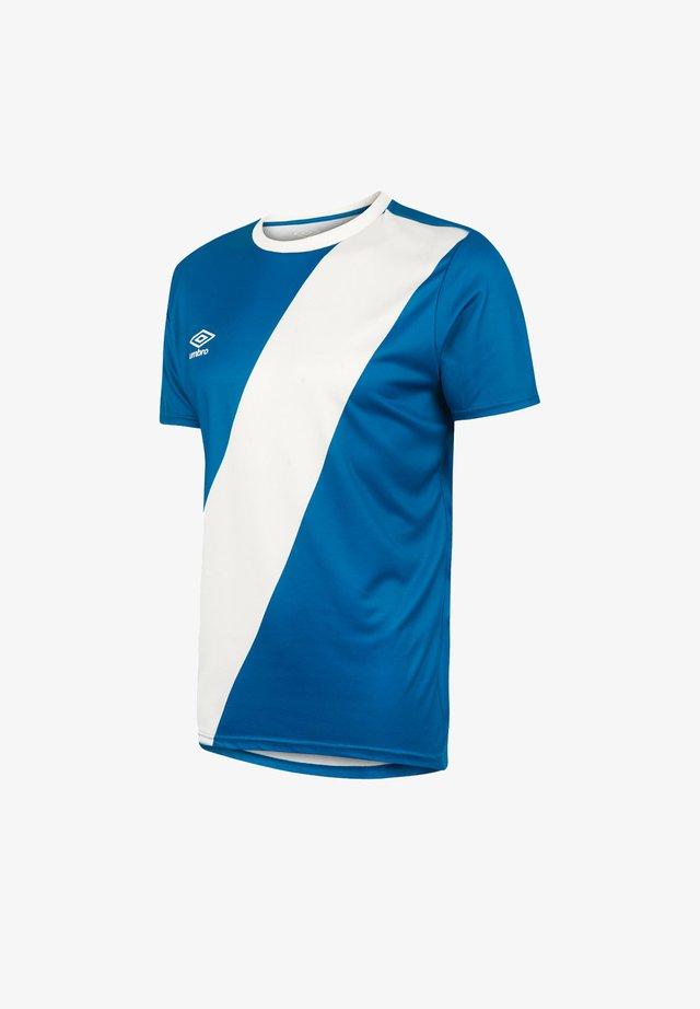 Basic T-shirt - blauweiss
