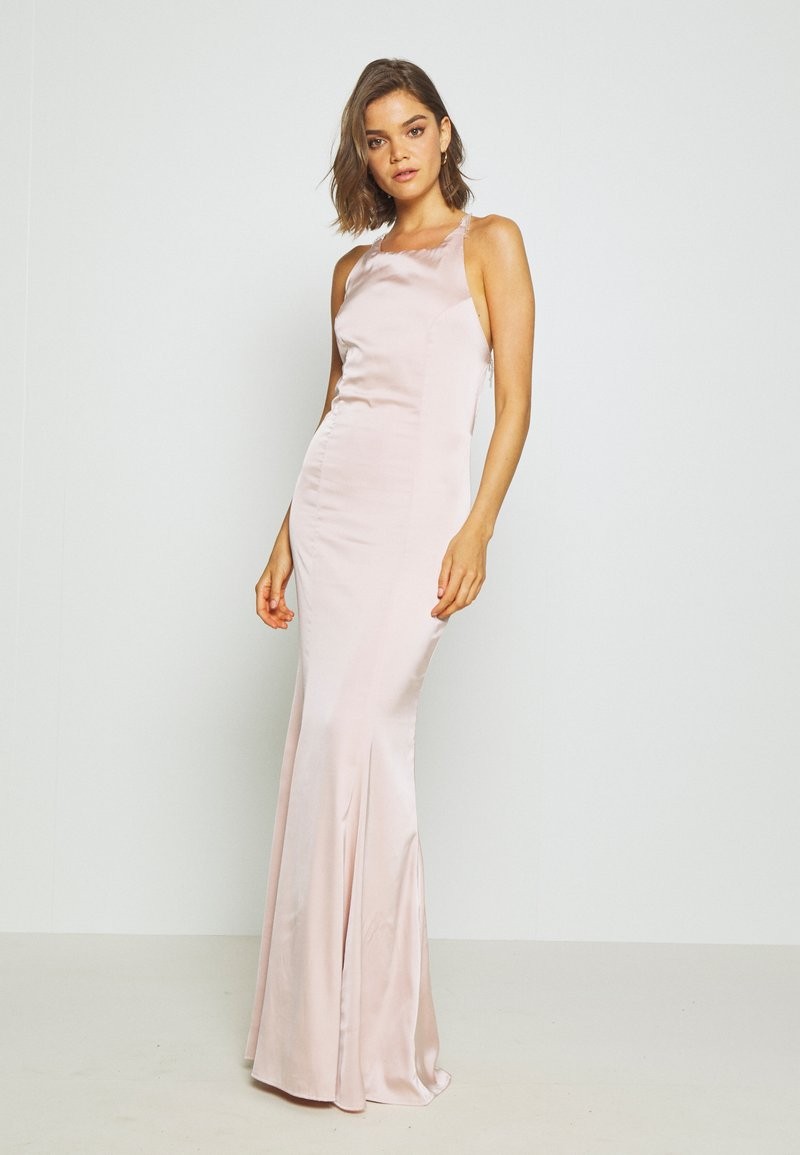 Nly by Nelly - RITZY FRINGE GOWN - Gallakjole - champagne