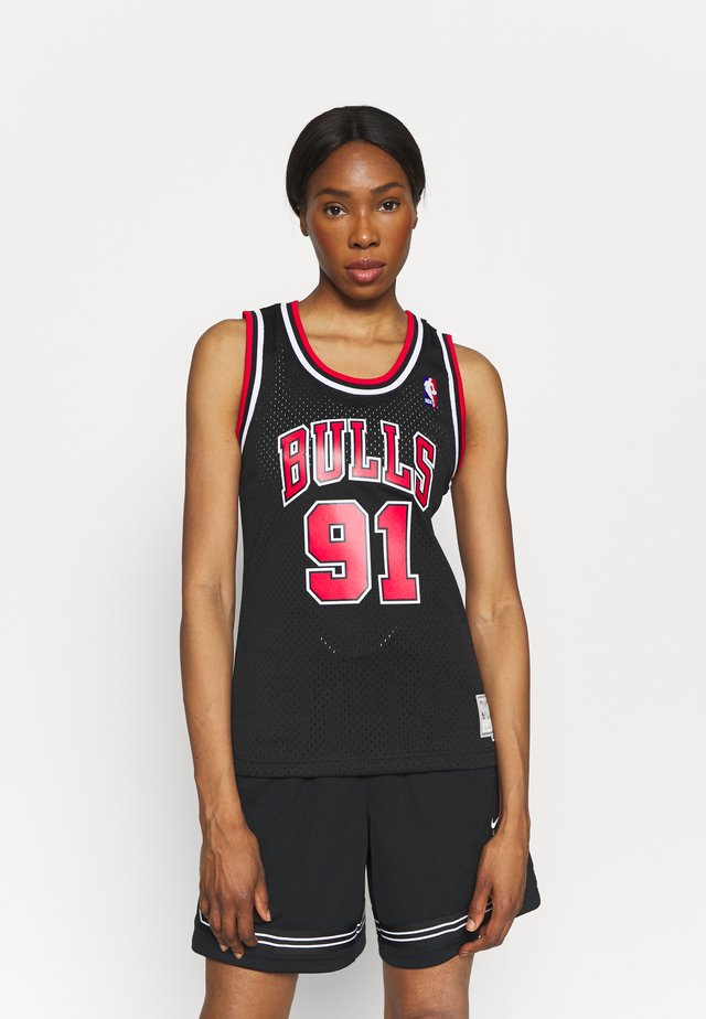 NBA DENNIS RODMAN CHICAGO BULLS WOMENS SWINGMAN - Article de supporter - black