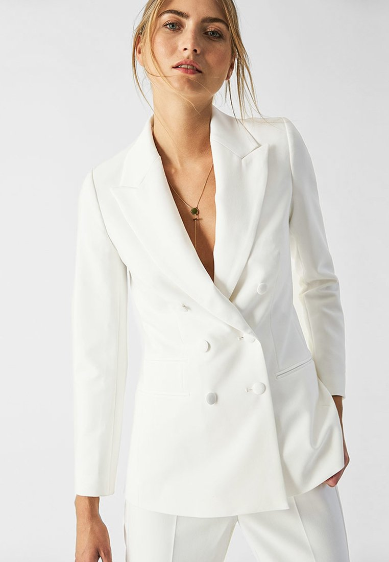 IVY & OAK BRIDAL - DOUBLE BREASTED TUXEDO - Blazer - white