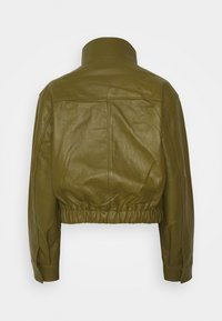 Proenza Schouler White Label - LIGHTWEIGHT DRAWSTRING WAIST JACKET - Leather jacket - military - 9