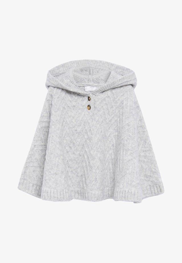 COCO - Cape - gris chiné clair