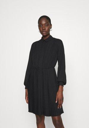 PLEATED DRESS - Shirt dress - black