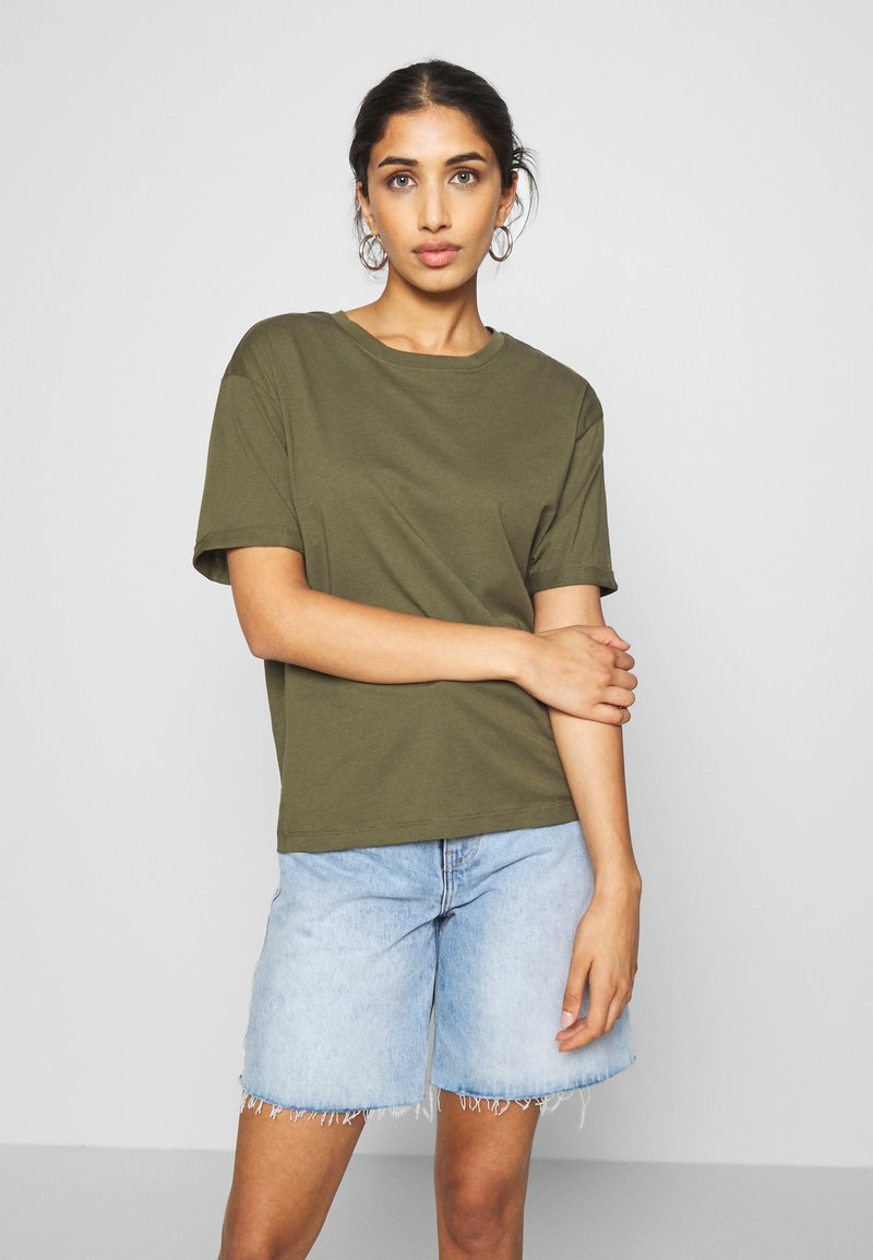 Even&Odd - Basic T-shirt - olive night