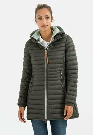 MIT STEHKRAGEN - Down coat - dark khaki