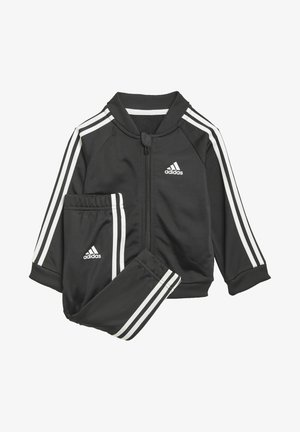 3 STRIPES TRICOT TRACKSUIT - Trainingspak - black