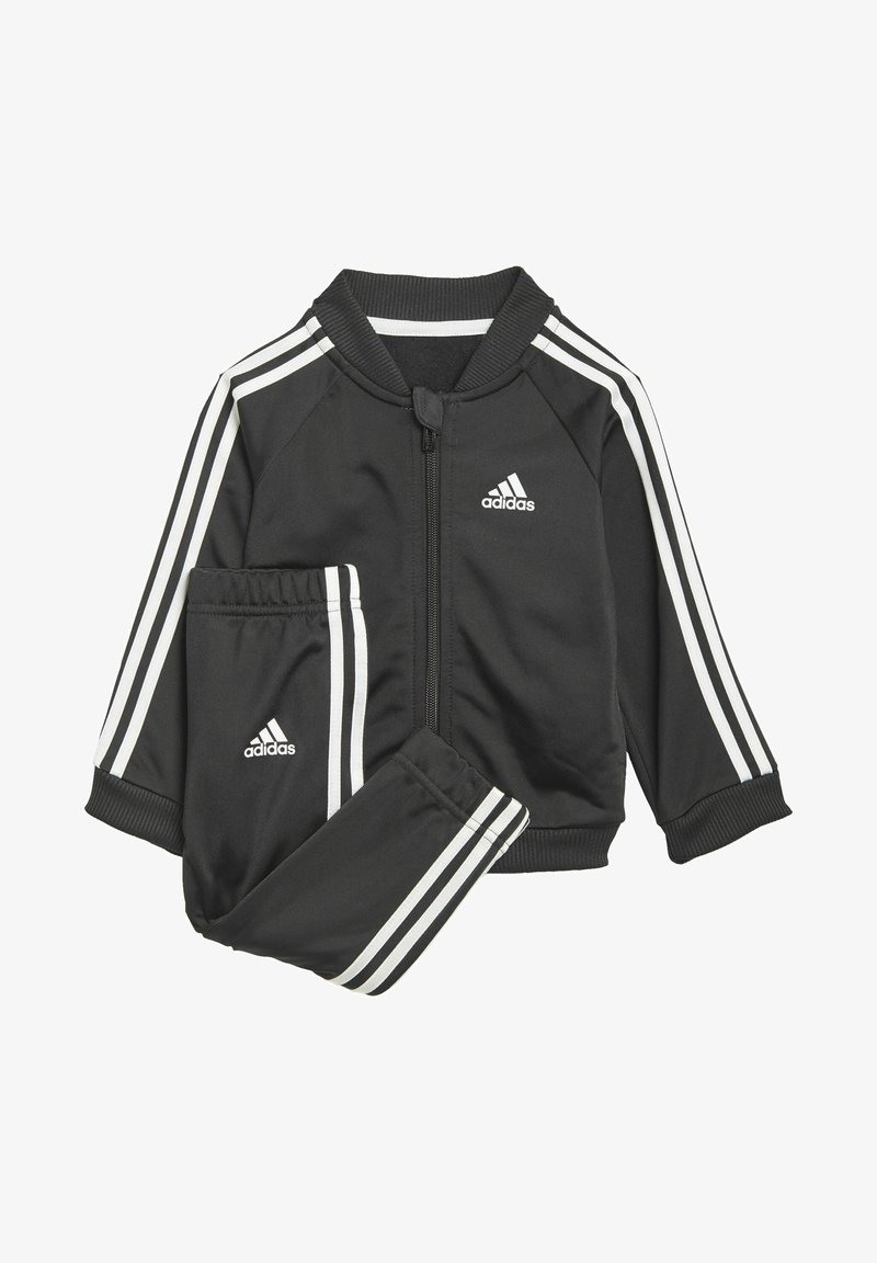 adidas Performance - 3 STRIPES TRICOT TRACKSUIT - Tracksuit - black