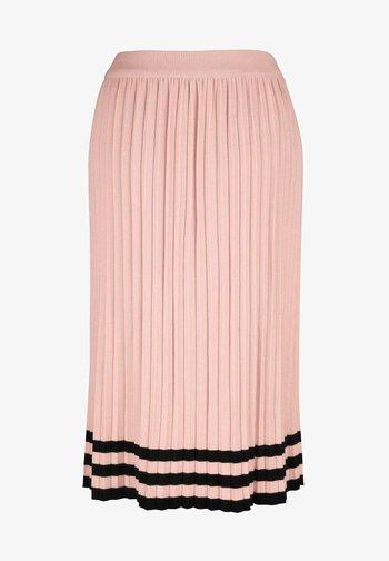 Pleated skirt - rosé,schwarz