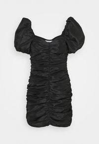 NA-KD - PUFFY SLEEVE DRAPED MINI DRESS - Cocktail dress / Party dress - black - 4