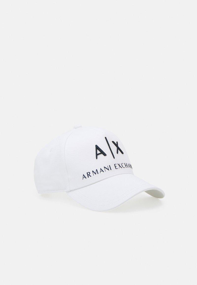 Armani Exchange - BASEBALL HAT UNISEX - Gorra - bianco/blu navy