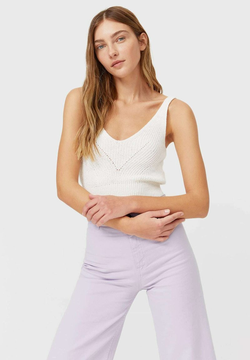 Stradivarius - Top - white
