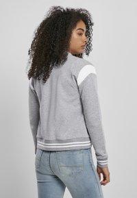Urban Classics - Zip-up hoodie - grey white - 1