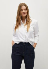 Violeta by Mango - OXFORD - Button-down blouse - wit - 0