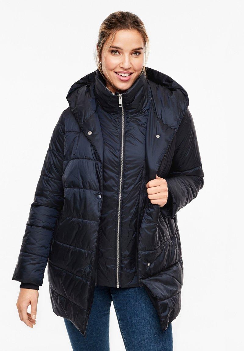 Triangle - MIT KAPUZE - Winter coat - navy