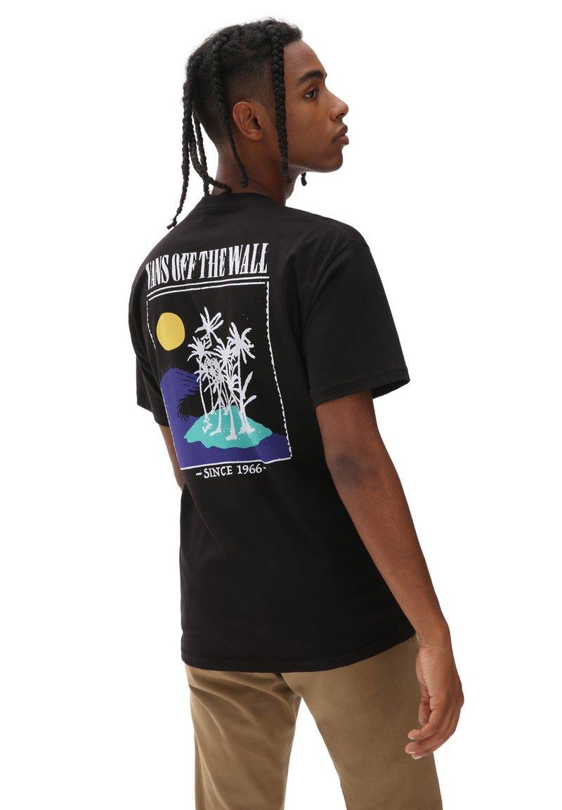 Vans - MN DESERTED SS - T-shirt print - black