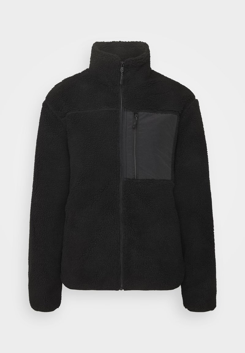 Cotton On - UNISEX POCKET TEDDY ZIP THROUGH - Winter jacket - black