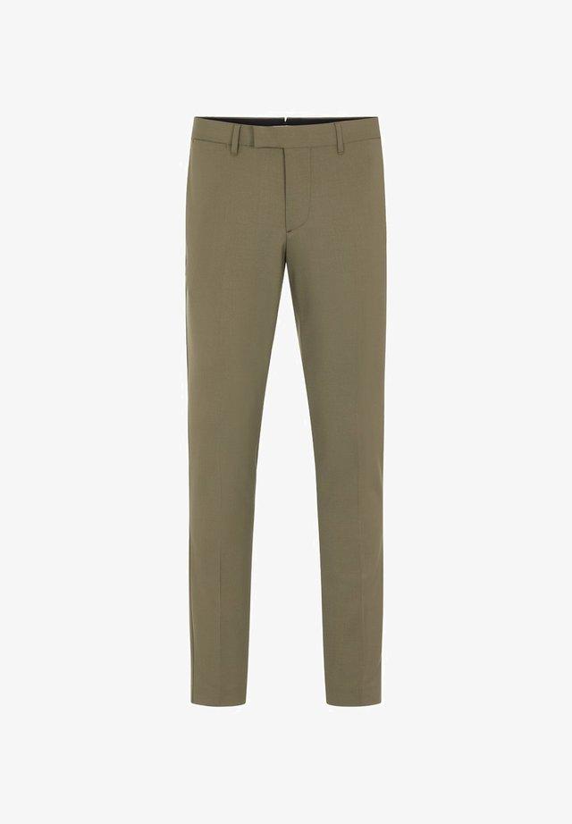 Spodnie garniturowe - army green