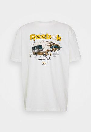 TEE SOUTH - Print T-shirt - chalk
