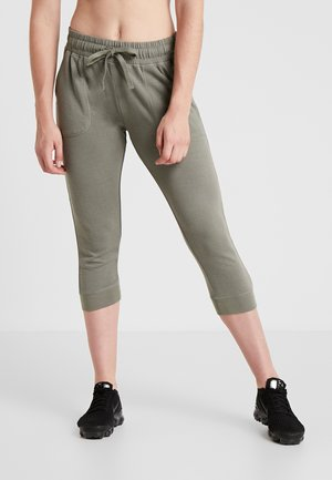 CROPPED GYM TRACKPANT - 3/4 sports trousers - steely shadow