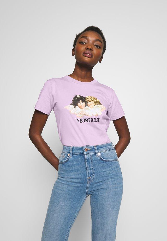 VINTAGE ANGELS TEE - T-shirt imprimé - lilac