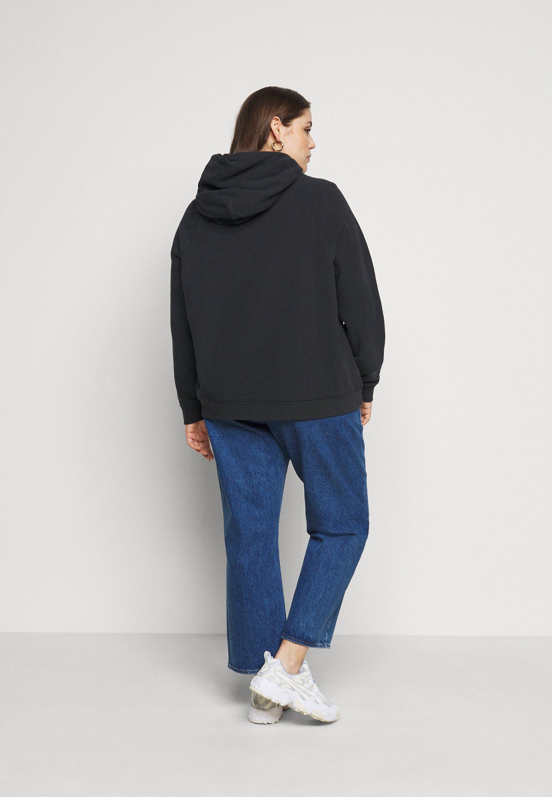 Levi's® Plus NONGRAPHIC SPORT HOOD - Hoodie - caviar - Women's winter clothes CwhkI