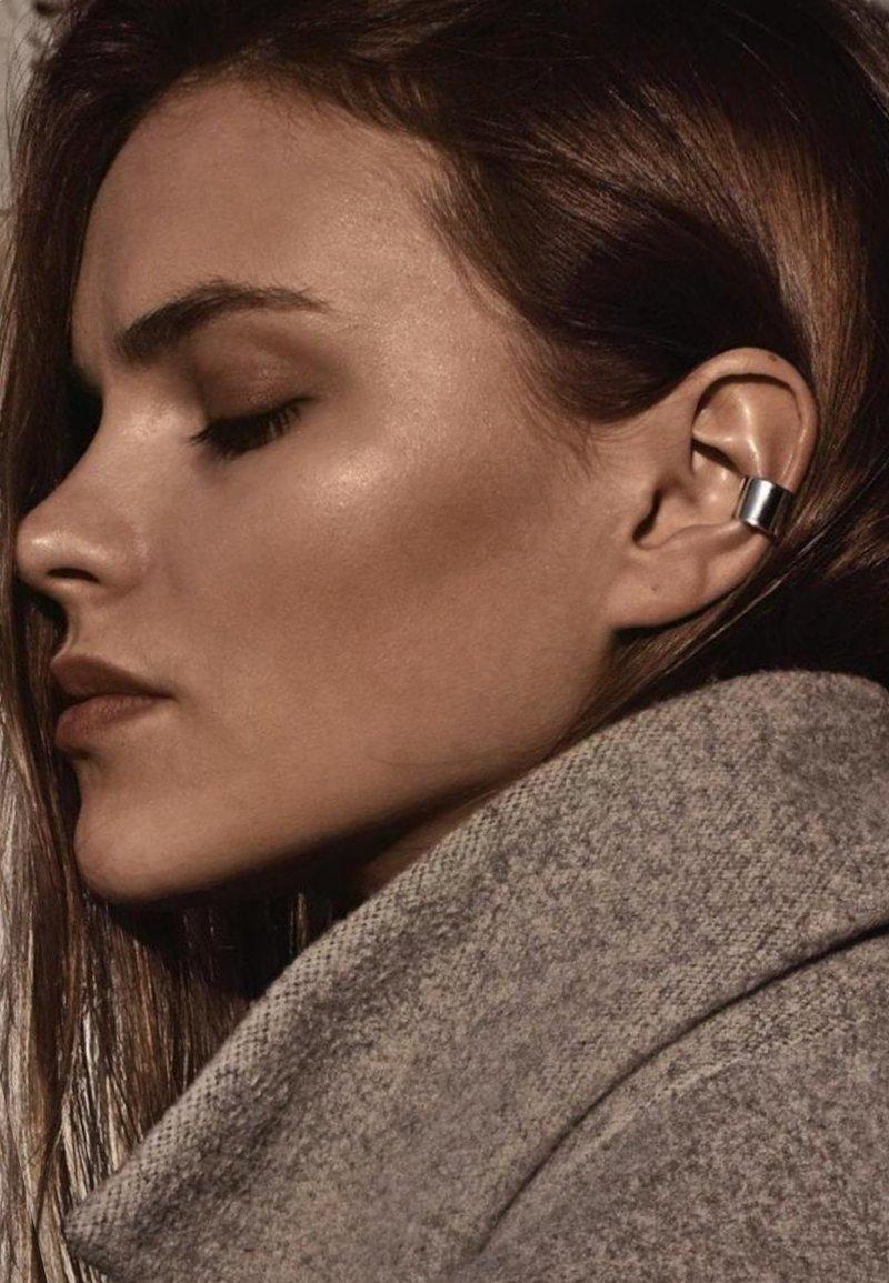 No More - BOLD FLAT EAR CUFF - Earrings - silver