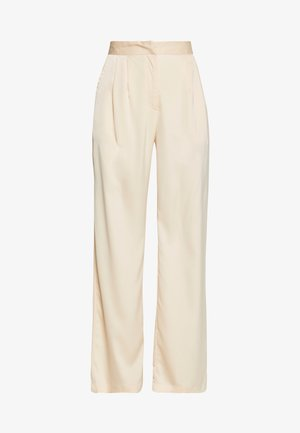 WIDE LEG TROUSER - Kalhoty - champagne