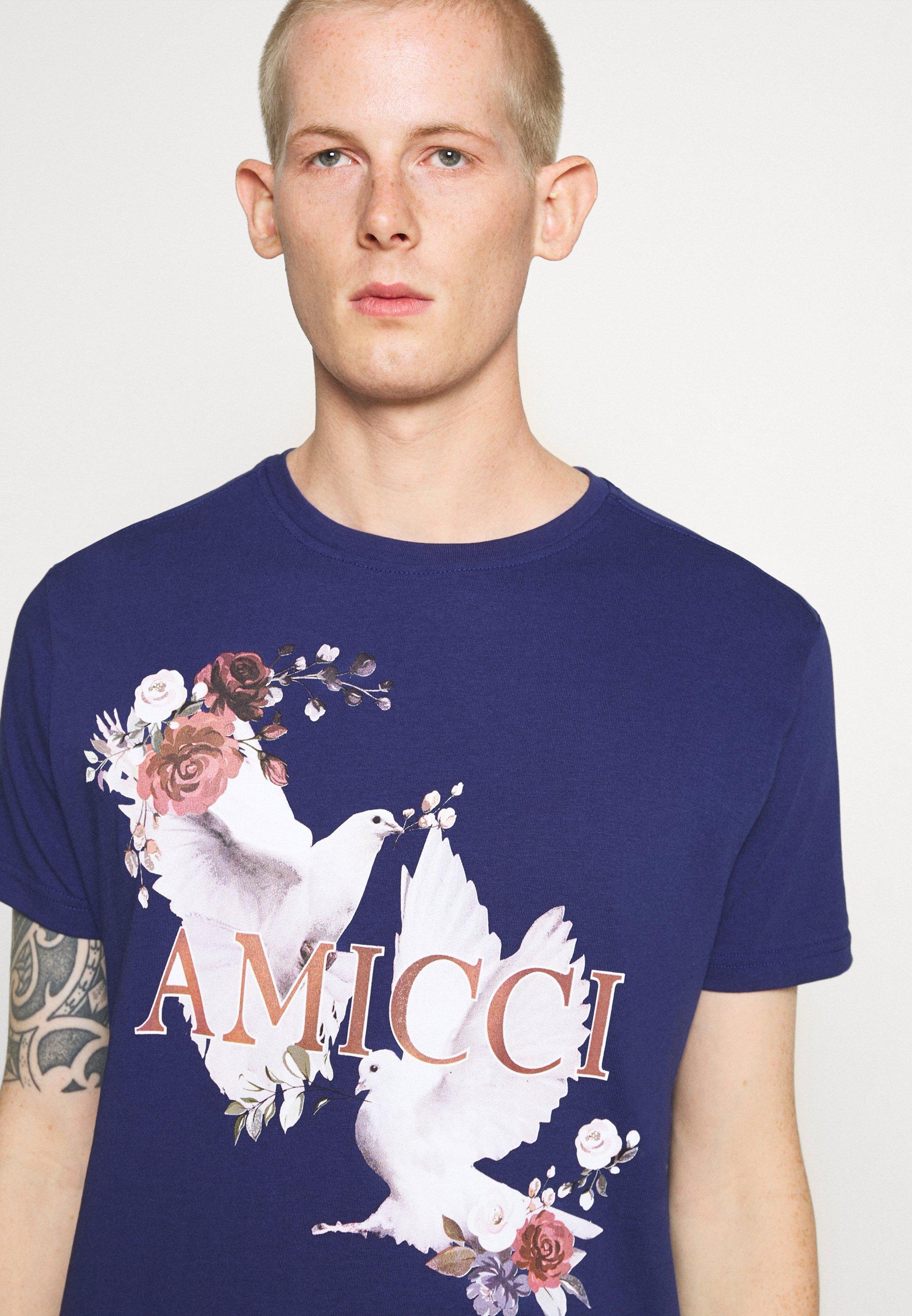 AMICCI SIRMONE - Print T-shirt - navy btkcV