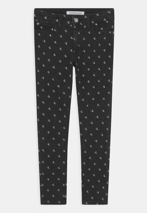SKINNY MINI MONGRAM - Jeans Skinny Fit - black