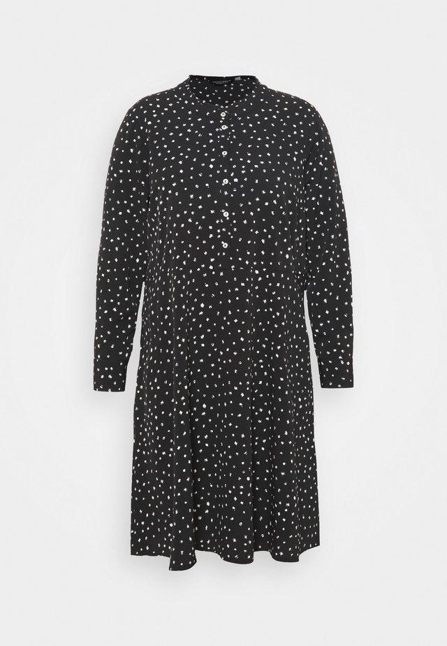 SPOT SHIRT DRESS - Korte jurk - black
