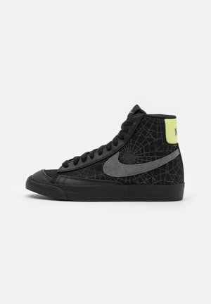 BLAZER MID '77 UNISEX - High-top trainers - black/universe gold/metallic silver/sail/white