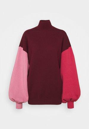 CLOVER - Pullover - deep rose/rose/vermillion