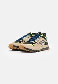 adidas Performance - TERREX HIKSTER LOW - Hiking shoes - savannah/core black/signal green - 1