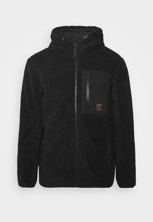 ALPINE MID LAYER - Fleecová bunda - black