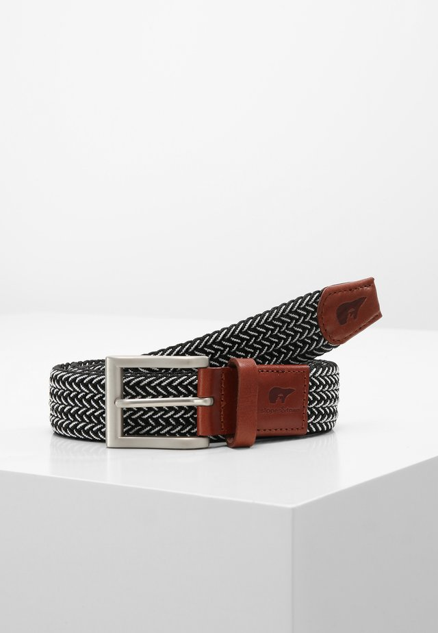 Braided belt - black/white